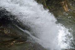 Wasserfalllandschaft nach dem Regen Lizenzfreies Stockfoto