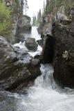 Wasserfallperspektive stockfotos