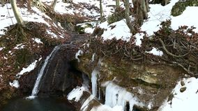 Wasserfallquelle stock footage