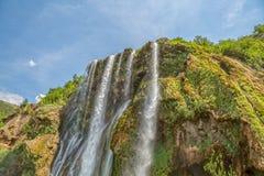 Wasserfallspitze Stockfotografie