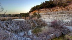 Wasserfalltexas-Nationalpark lizenzfreies stockfoto