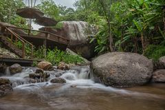 Wasserfallunterkunft Lizenzfreies Stockfoto