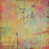 Wasserfarbe gemalter Künstlerhintergrund Lizenzfreie Stockfotografie