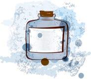 Wasserfarben-Glasvektorabbildung Lizenzfreie Stockbilder