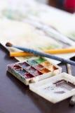 Wasserfarbfarben lizenzfreie stockfotos