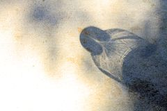 Wasserflaschen, die herausgestellt werden, um Ursachenschatten zu beleuchten, um auf die Oberfläche zu fallen lizenzfreie stockfotografie