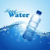 Wasserflaschenmeer stock abbildung