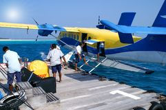 WasserFlugverkehr im Indischen Ozean Stockfotos