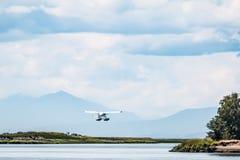 Wasserflugzeug-Abenteuer Stockfotos