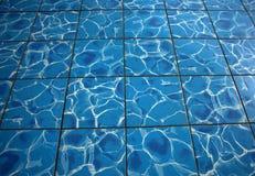 Wasserfußbodenfliese Lizenzfreies Stockbild