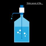 Wassergallone vektor abbildung