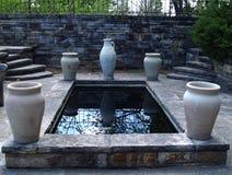 Wassergarten Stockbild