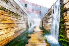 Wassergarten Reden στο χωριό Schiffweiler Στοκ εικόνες με δικαίωμα ελεύθερης χρήσης