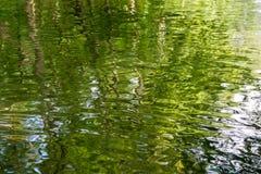 Wasserhintergrundmuster mit Kräuselungen stockfotografie
