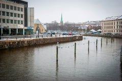 Wasserkanal in Gothenburg im Stadtzentrum gelegen, Schweden Lizenzfreies Stockfoto