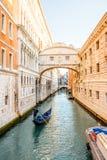 Wasserkanal in Venedig stockfotografie