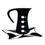 Wasserkocherschwarzweiss-Präsentiertellervektor-Lichthintergrund Stockfotos