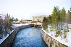 Wasserkraft-Kraftwerk Stockfotografie