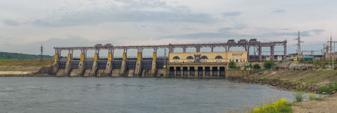 Wasserkraft-Kraftwerk lizenzfreies stockbild