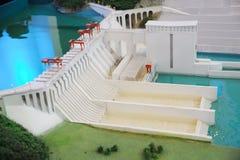 Wasserkraft-Stationbaumuster stockbilder