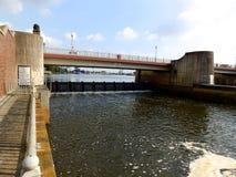 Wasserkraftbau Stockfotos