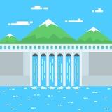 Wasserkraftillustration lizenzfreie abbildung