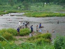 Wasserkraftkraftwerk khun Dan-prakarnchon Brunnenwasserwerk stockfoto