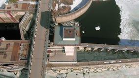 Wasserkraftkraftwerk, Lufttrieb stock footage