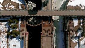 Wasserkraftkraftwerk, Lufttrieb stock video footage