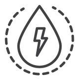 Wasserkraftlinie Ikone stock abbildung