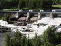 Wasserkraftstation in Norwegen Stockfotografie