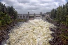 Wasserkraftwerk in Imatra stockbild