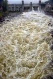Wasserkraftwerk in Imatra lizenzfreies stockbild