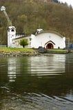 Wasserkraftwerk, natürliche Reserve Eifel stockbilder