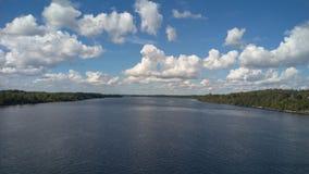 Wasserkraftwerk Plavinas, Daugava, Lettland Stockbild
