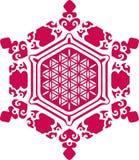 Wasserkristall - Blume des Lebens - Emoto vektor abbildung