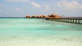Wasserlandhäuser an der Nika Rücksortierung, Maldives Lizenzfreies Stockbild