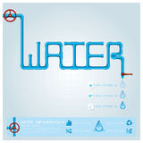 Wasserleitungs-Geschäft Infographic Stockfotos
