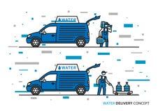 Wasserlieferungs-Vektorillustration lizenzfreie abbildung