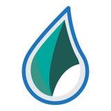 Wasserlogo-Ikonendesign Lizenzfreies Stockbild