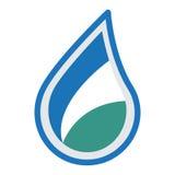 Wasserlogo-Ikonendesign Lizenzfreies Stockfoto