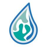 Wasserlogo-Ikonendesign Lizenzfreie Stockfotos