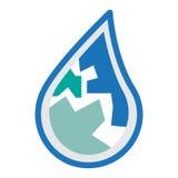 Wasserlogo-Ikonendesign Stockfotografie