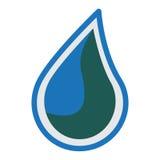 Wasserlogo-Ikonendesign Lizenzfreie Stockfotografie