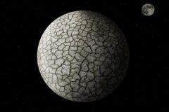 Wasserlose und gebrochene Erde stock abbildung
