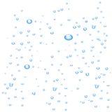 Wasserluftblasen auf weißem Hintergrund lizenzfreie abbildung