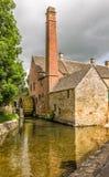 Wassermühle des 19. Jahrhunderts Lizenzfreie Stockfotografie