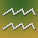 Wassermann-Aluminium-Symbol Lizenzfreie Stockbilder