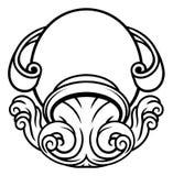 Wassermann-Tierkreis-Astrologie-Zeichen vektor abbildung