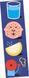 Wassermasern-Zitronewarnung lizenzfreie abbildung